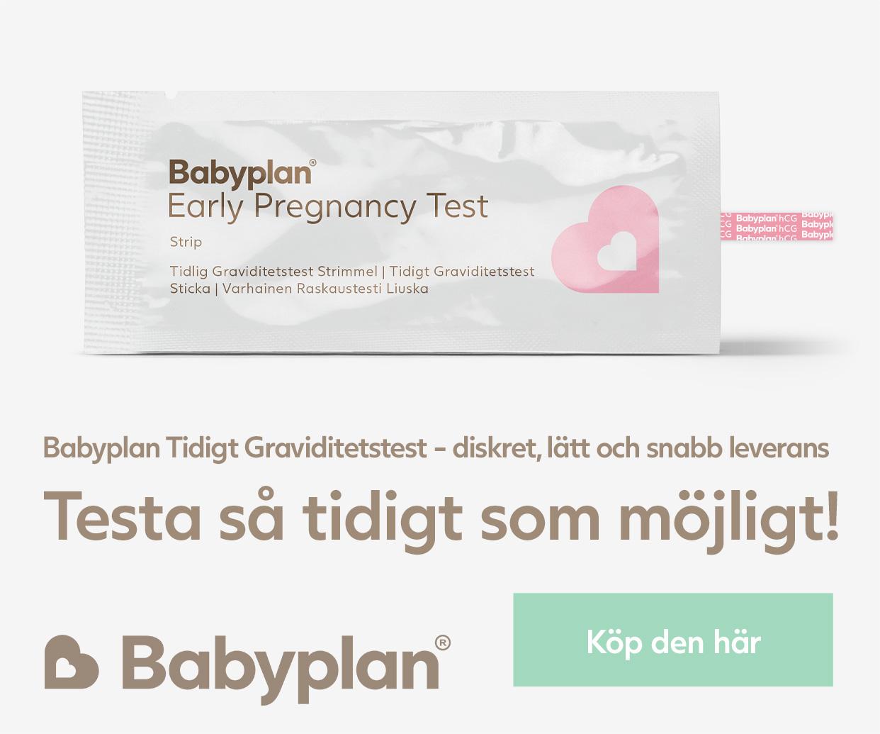Köp Babyplan Tidigt Graviditetstest sticka här