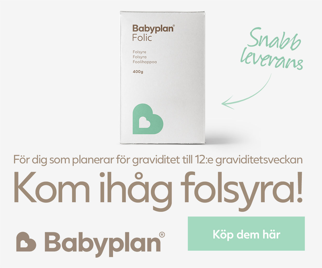 Köp Babyplan folsyra här