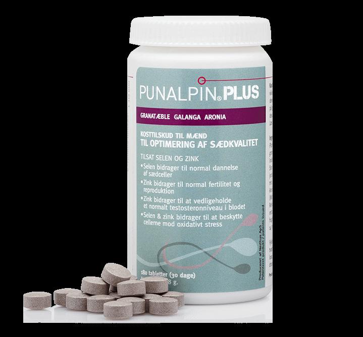 Punalpin® PLUS (180 tabletter) Granatäpple, galanga, aronia, zink, selen