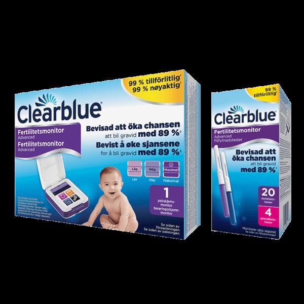 Clearblue Advanced Fertilitetsmonitor med teststickor